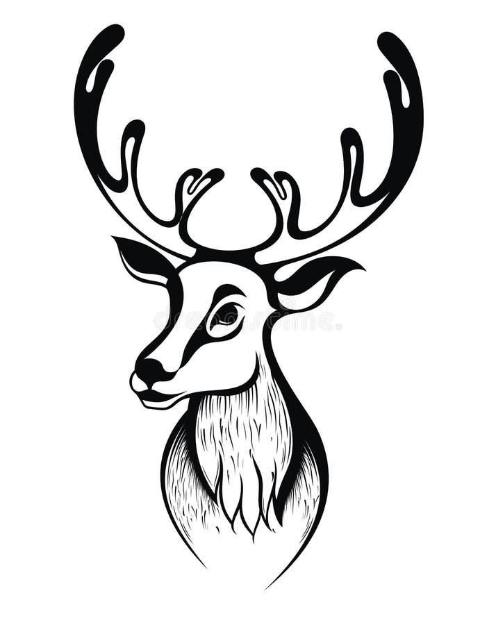 Download Christmas deer stock vector. Image of animal, illustration - 34849736