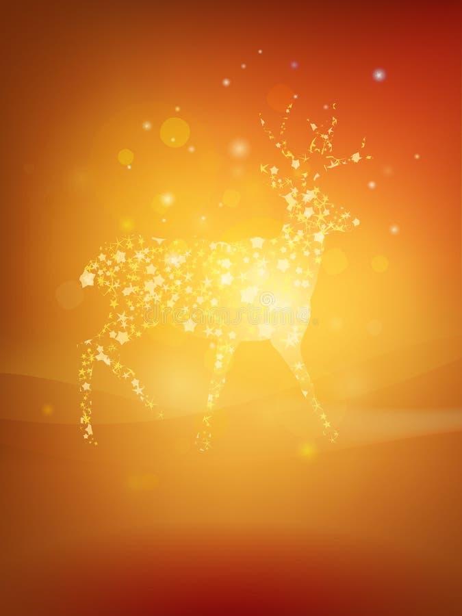 Christmas Deer greeting card design stock image