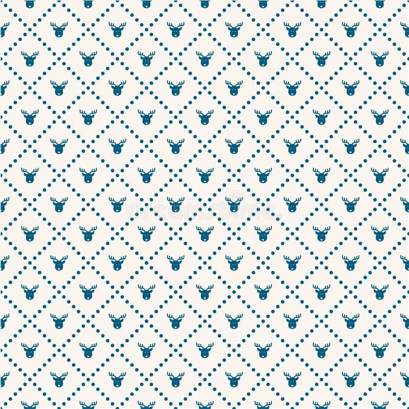 Christmas Deer pattern. Vector illustration of a Christmas Deer pattern vector illustration