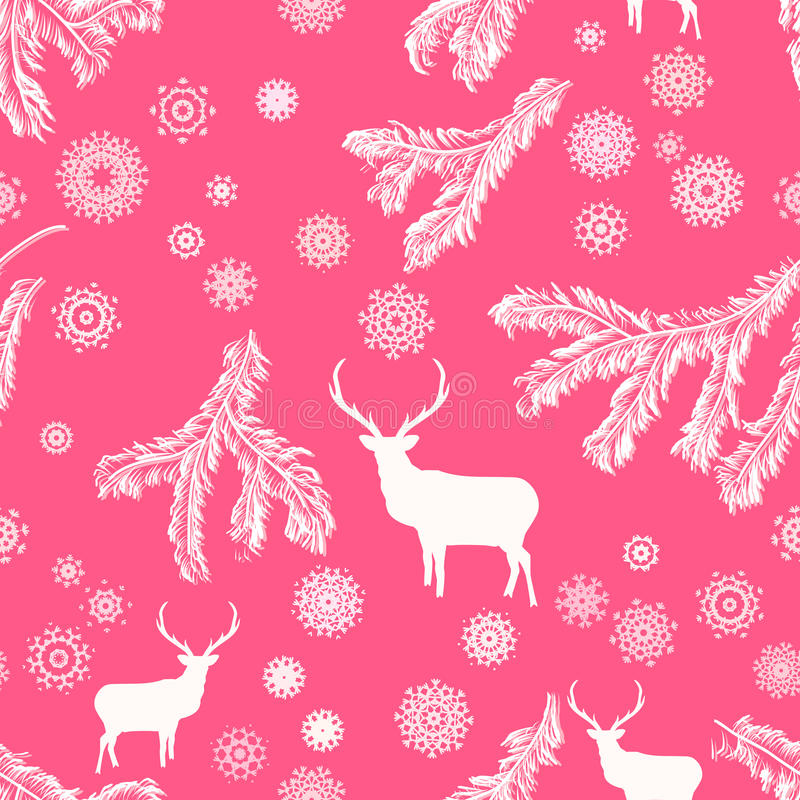 Download Christmas Deer, Seamless Illustration. EPS 8 Stock Vector - Image: 27706335