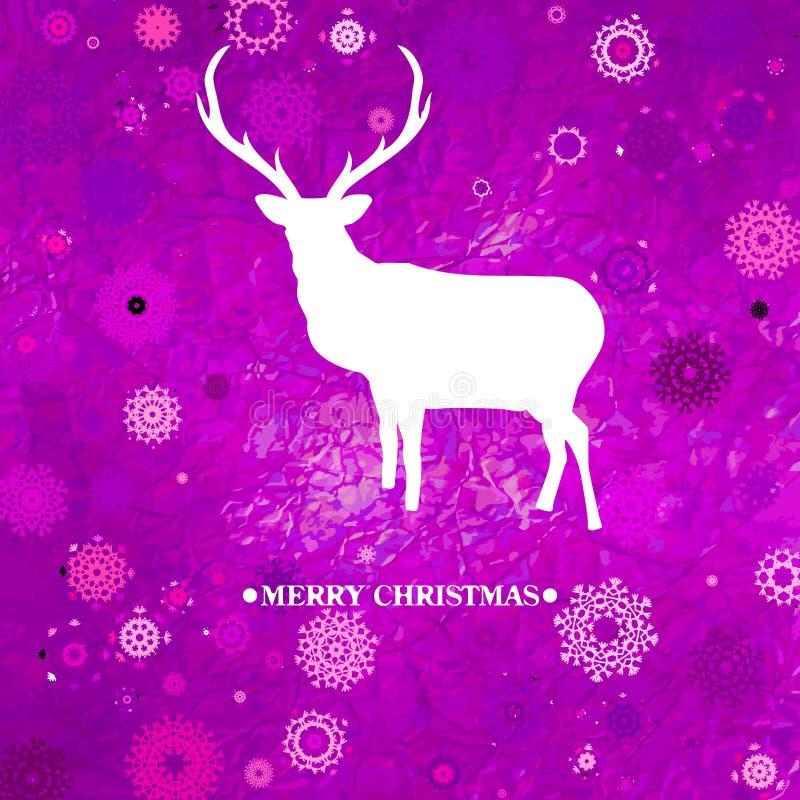 Download Christmas Deer Tempate Card. EPS 8 Stock Vector - Image: 27987228
