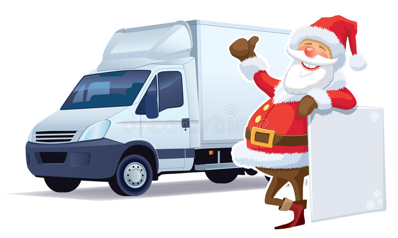 Christmas delivery stock illustration