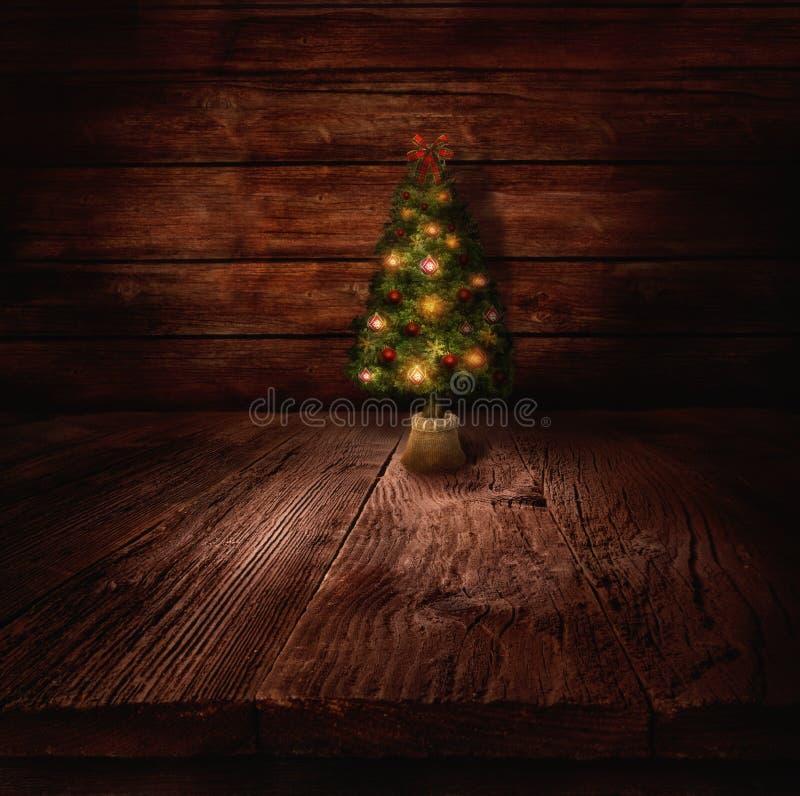 Christmas design - Christmas tree stock illustration