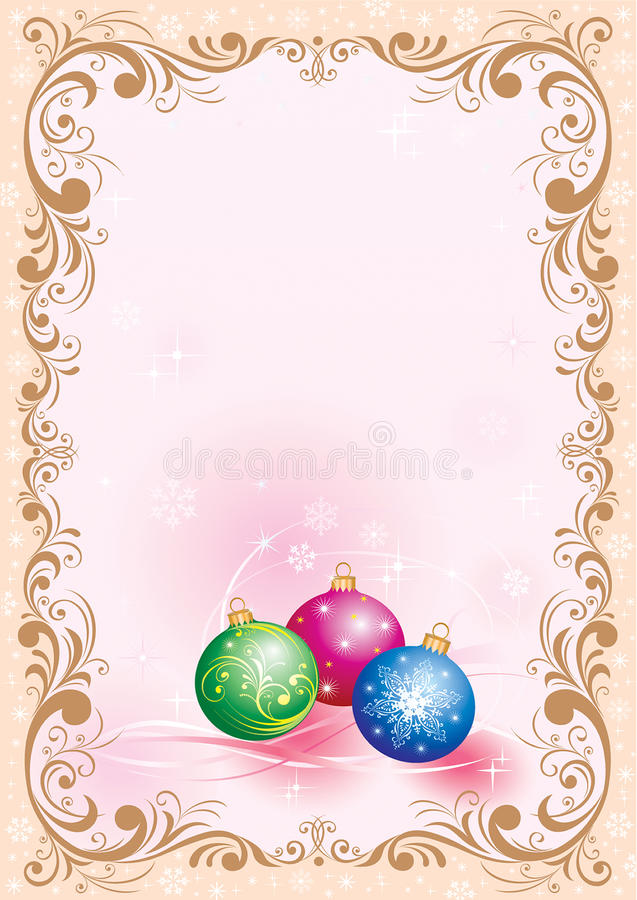 Christmas Design With Christmas-tree Decorations Stock Image