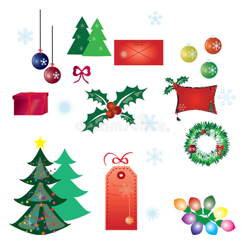 Download Christmas design elements stock vector. Image of element - 10346927