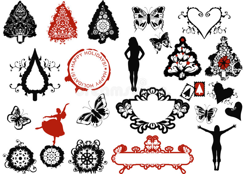 Download Christmas design elements stock vector. Illustration of banners - 3507413