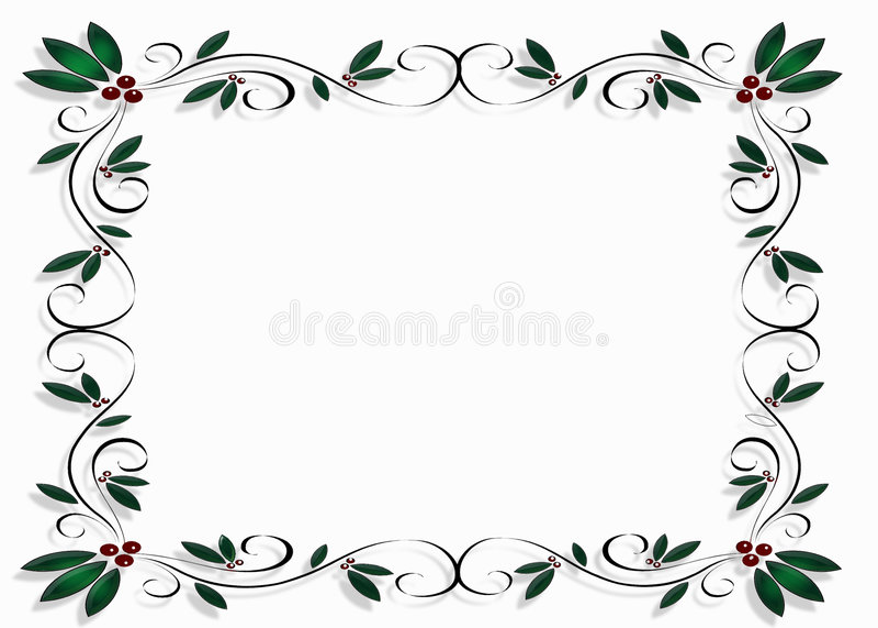 Christmas Design Frame Or Border Royalty Free Stock Photos