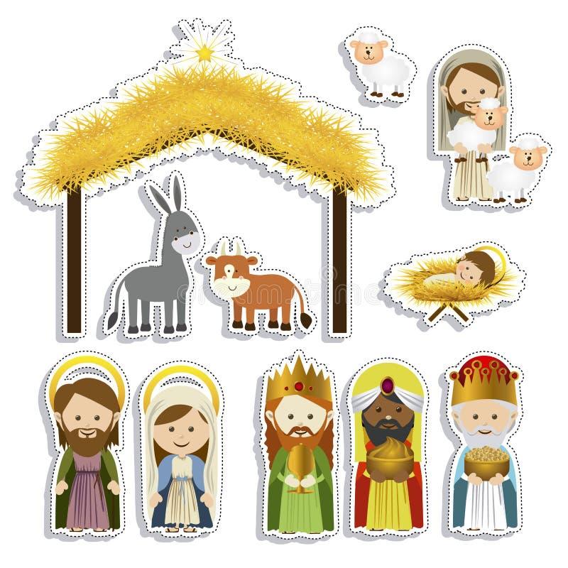 Christmas. Design over white background vector illustration vector illustration