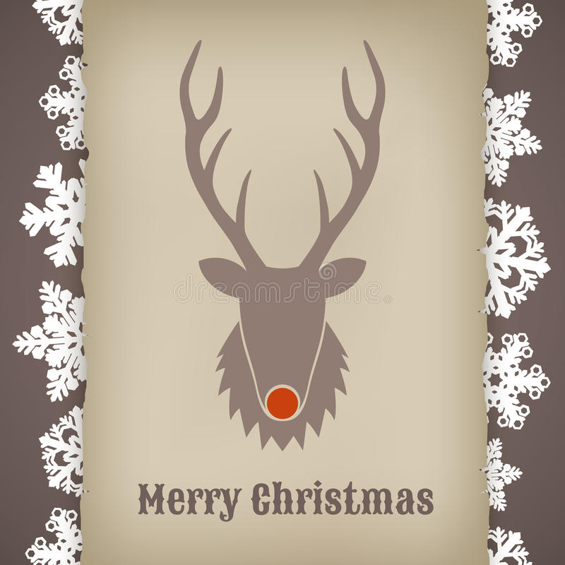 Free Christmas Design With Deer Stock Photography - 39928712