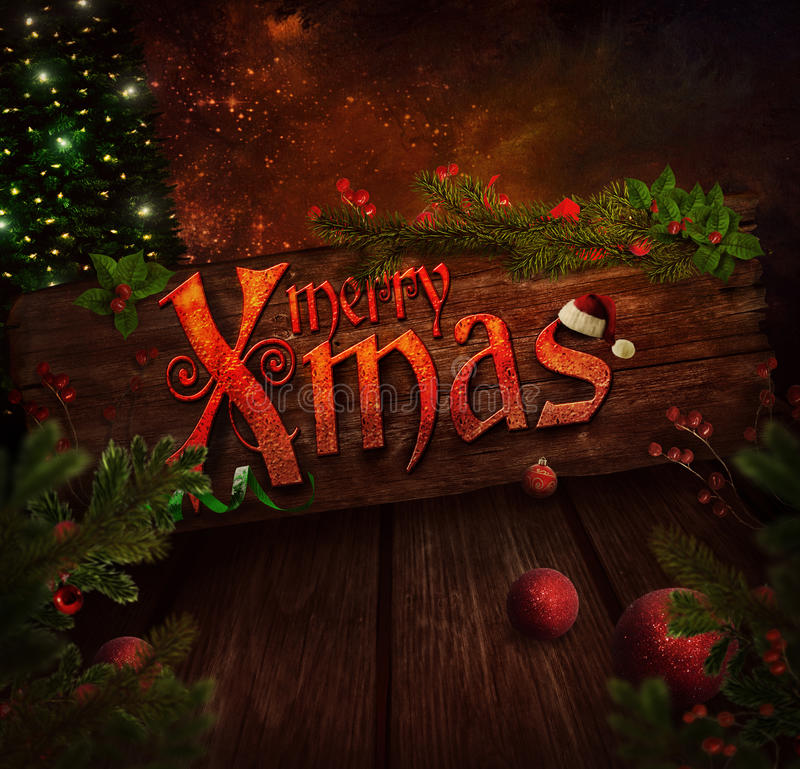 Christmas design - Xmas sign vector illustration