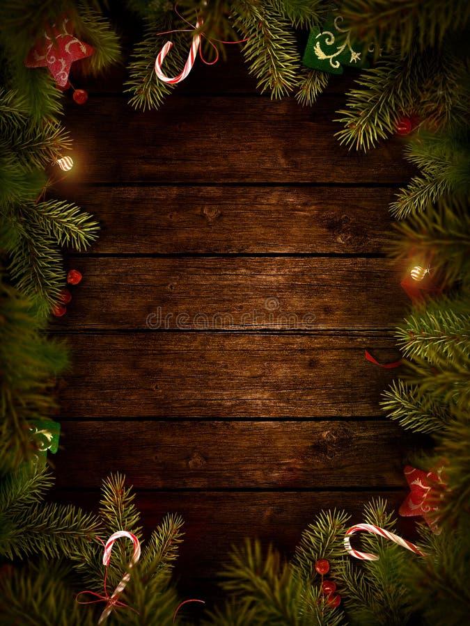 Christmas design - Xmas wreath stock illustration