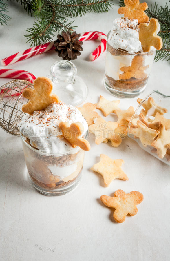 Christmas dessert, Ginger Trifle royalty free stock photography