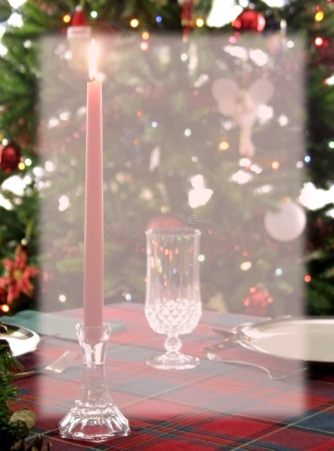 Christmas Dinner Background Stationery royalty free stock photo