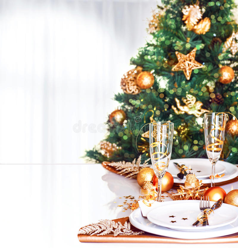 Free Christmas Dinner Border Royalty Free Stock Images - 35415409