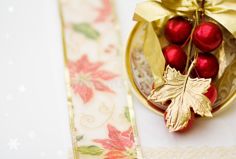Download Christmas Dinner Red Decoration - Clipping Path Stock Photo - Image: 6557862