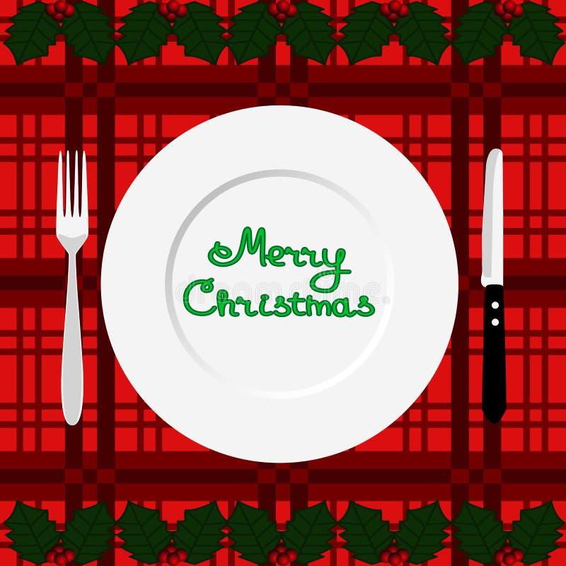 Christmas dinner. Dinner time. royalty free illustration