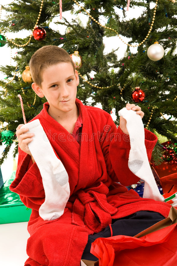 Christmas Disappointment royalty free stock image