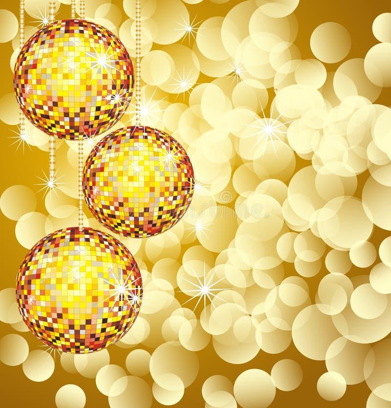 Christmas disco ball stock images