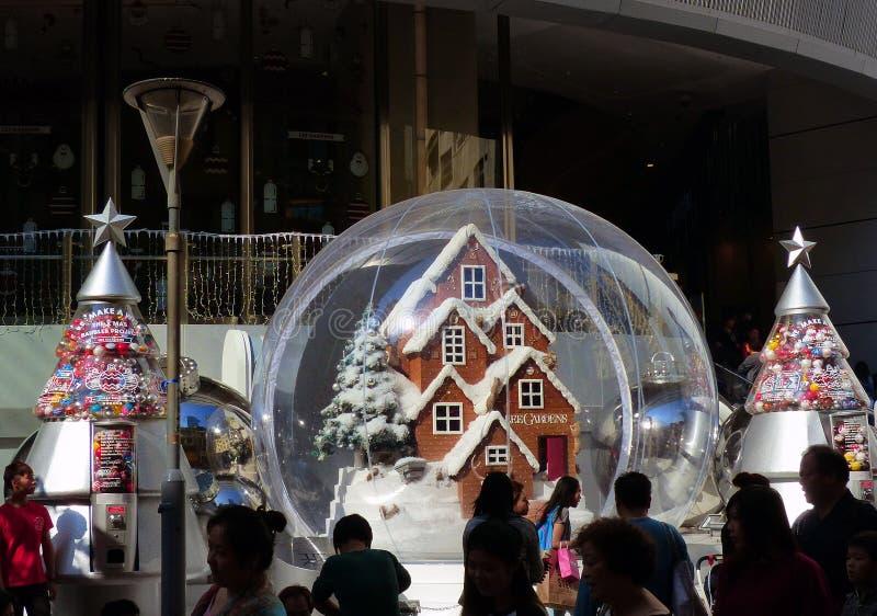 Christmas display. Lee Gardens.HK stock image