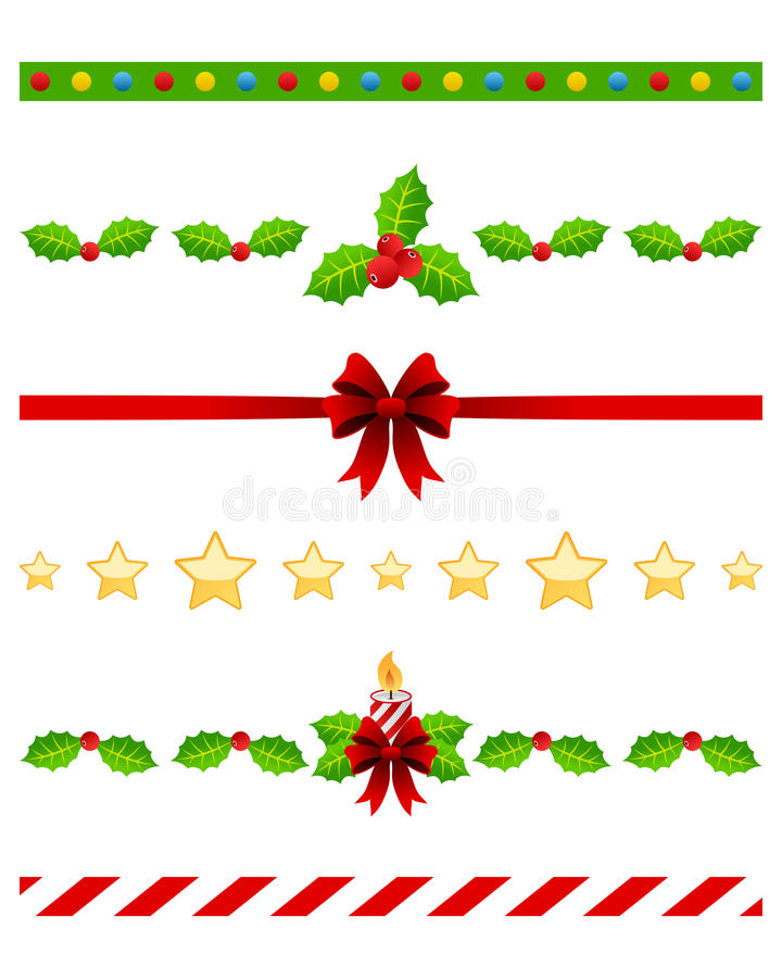 Download Christmas Dividers Set [3] stock vector. Illustration of holly - 26993166