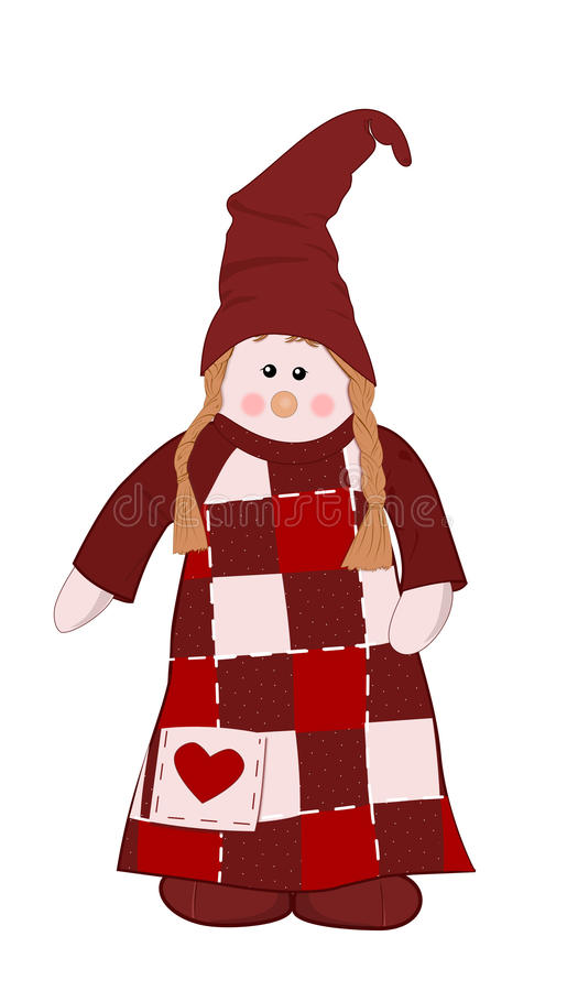 Free Christmas Doll Royalty Free Stock Images - 63225269