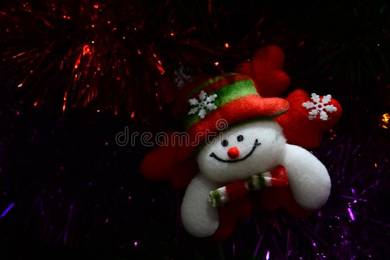 Christmas doll for brosur and banner. This image for your banner and poster stock photo