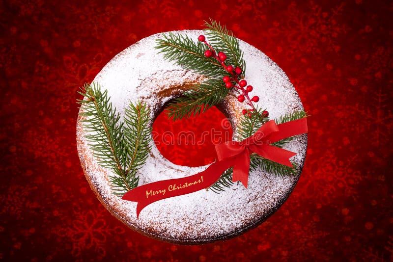Christmas Donut stock photo