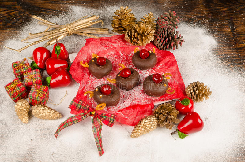 Christmas donuts royalty free stock images