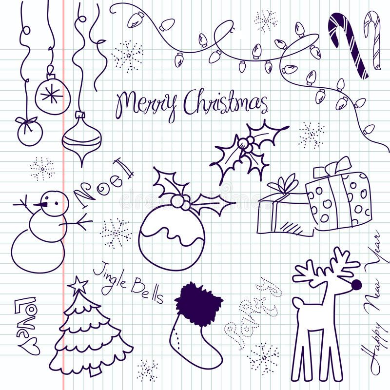 Download Christmas doodle stock vector. Image of december, cute - 21139472
