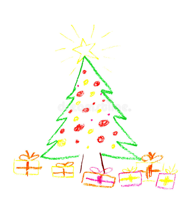 Christmas drawing stock images