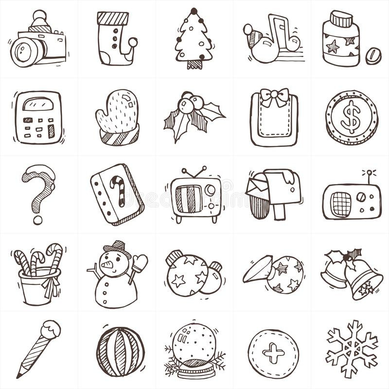 christmas drawing icons a stock vector illustration of medicine 130143455 christmas drawing icons a stock vector
