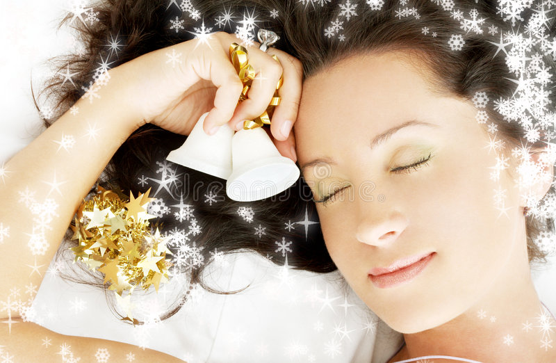 Christmas dream #3 with snowflakes royalty free stock photography