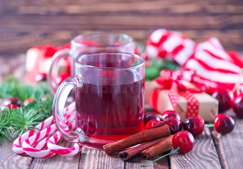 Christmas drink stock photo
