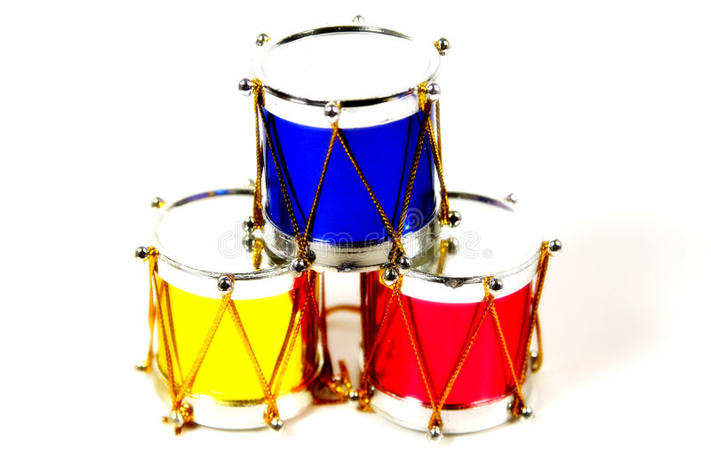 Christmas Drums royalty free stock image