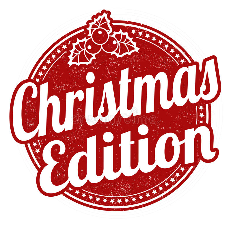 Christmas edition stamp vector illustration