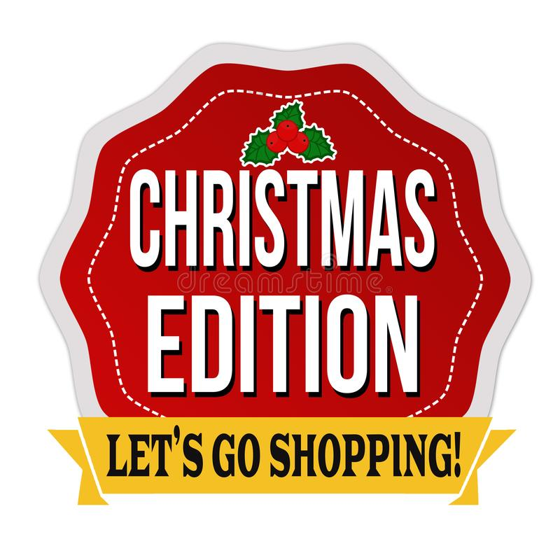 Christmas edition sticker or label vector illustration