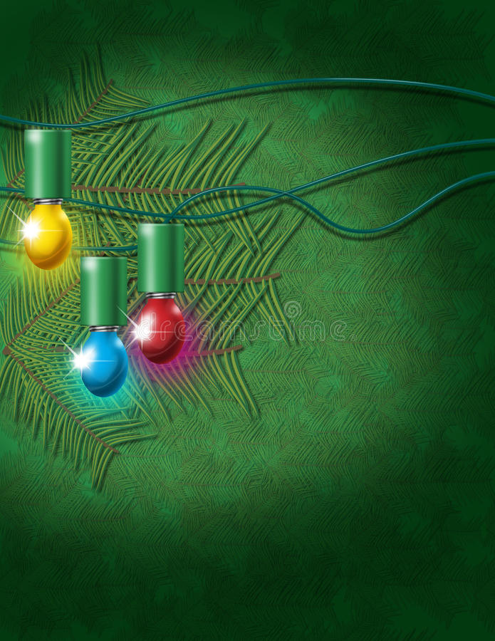 Christmas Electric Bulbs Stock Photos