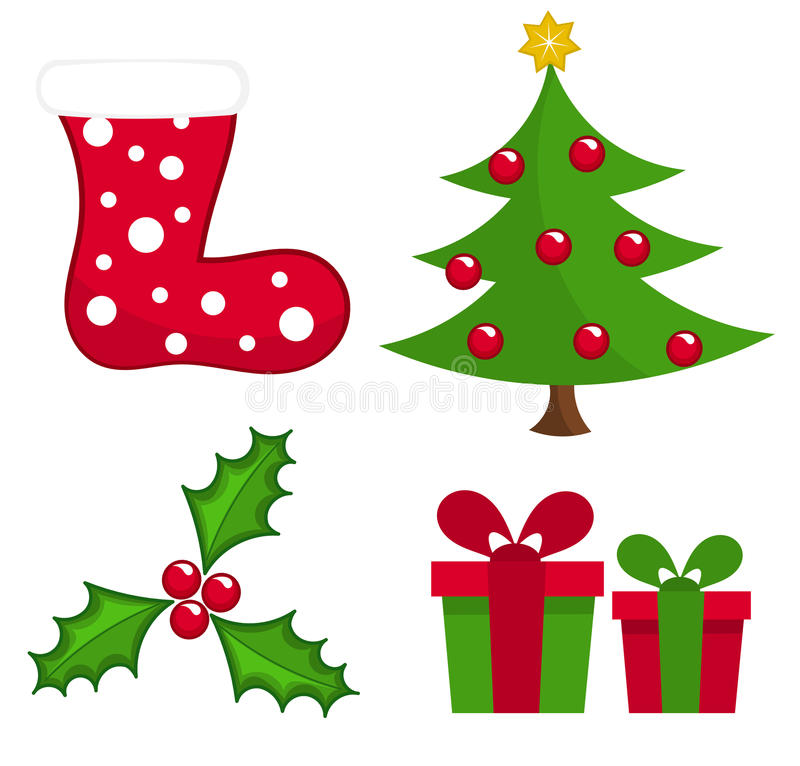 Download Christmas elements stock vector. Illustration of decoration - 22261512
