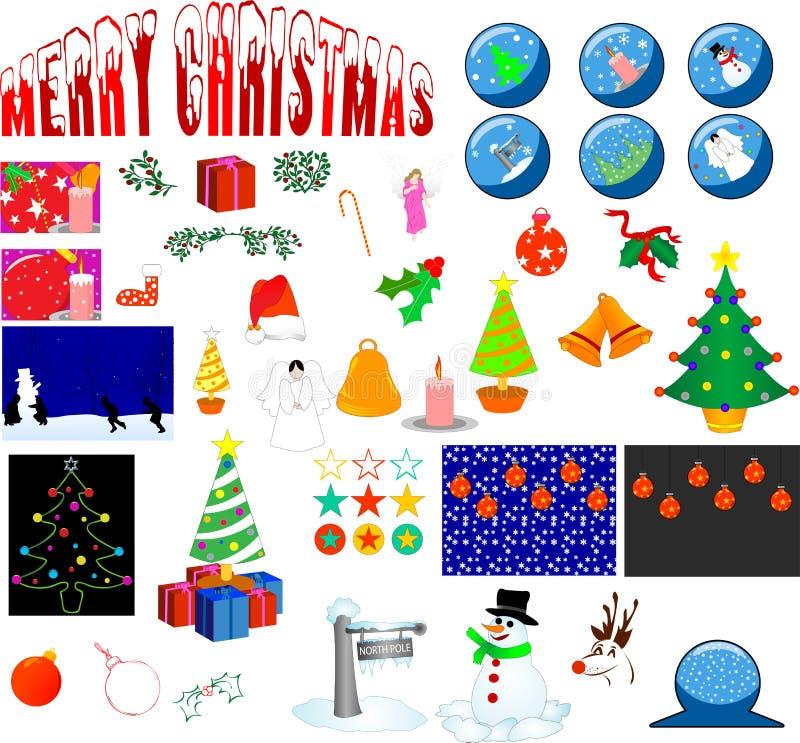 Christmas elements vector illustration