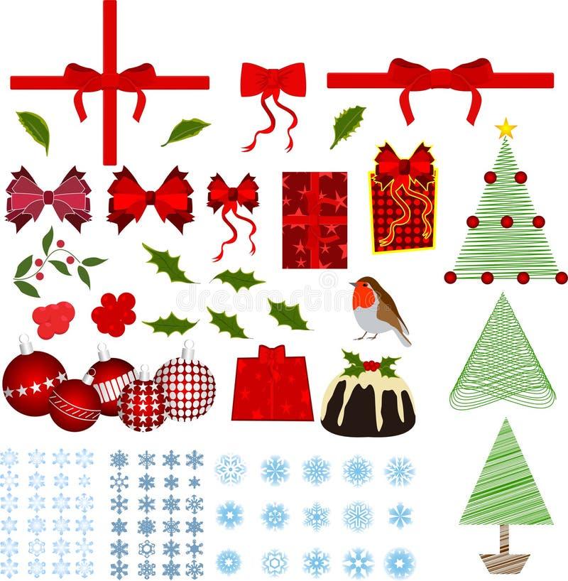 Christmas elements royalty free illustration