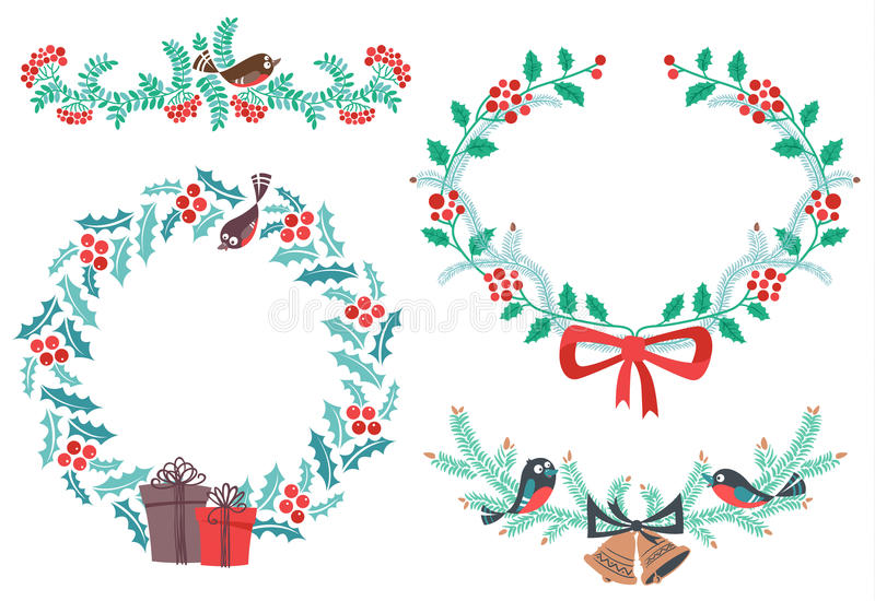 Download Christmas elements stock photo. Image of greeting, isolated - 34853836
