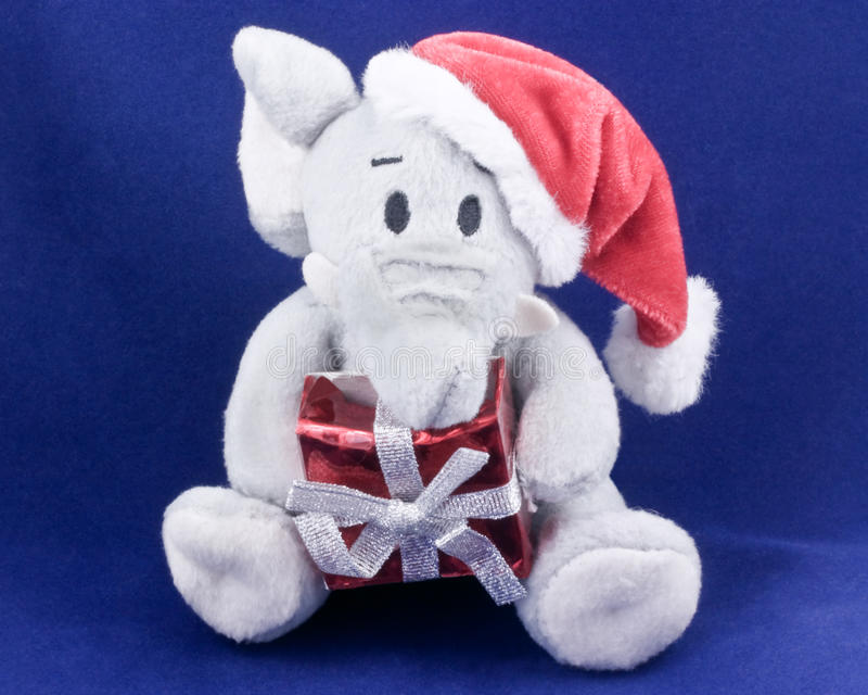 Christmas Elephant Toy Stock Images