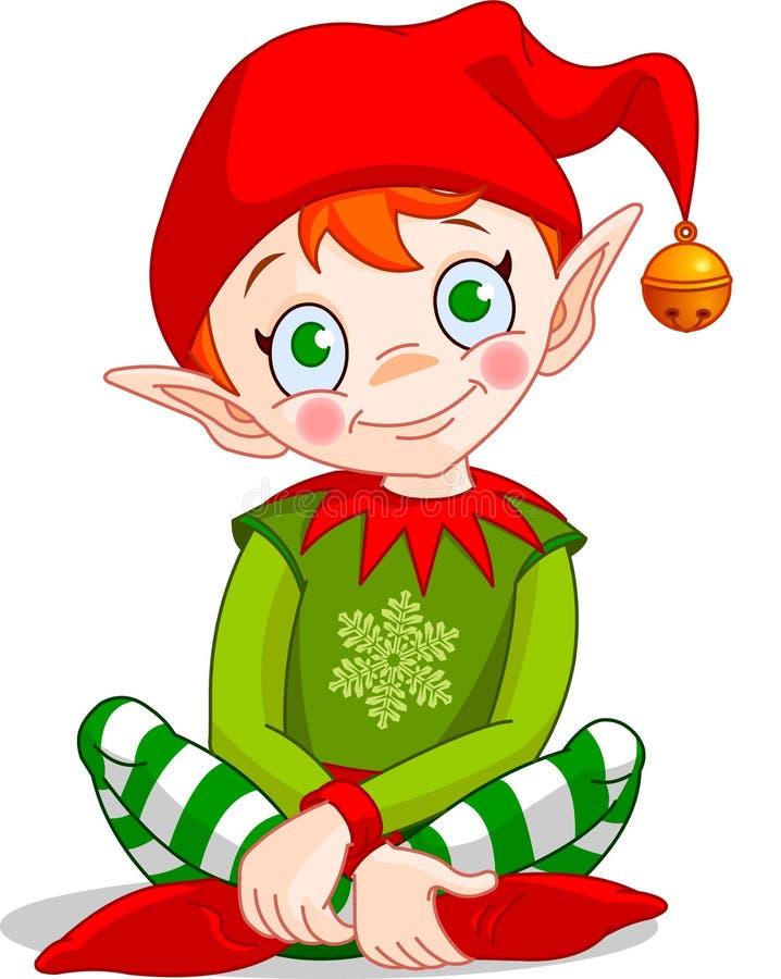 Christmas_elf ilustração do vetor