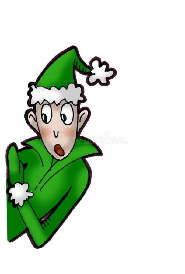 Christmas elf stock illustration of