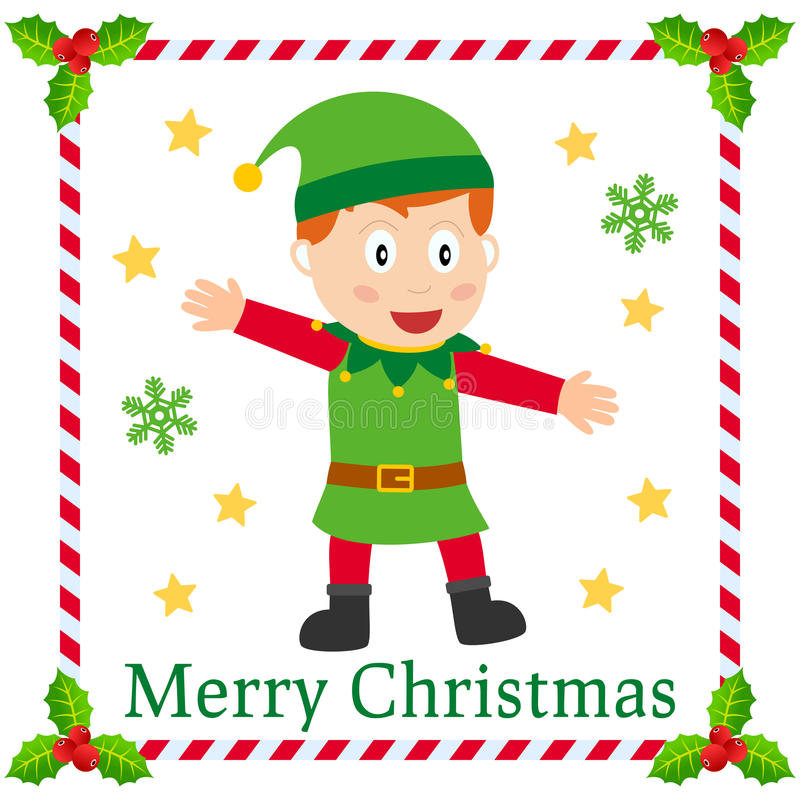 Download Christmas Elf Greetings Card Stock Vector - Image: 22037292