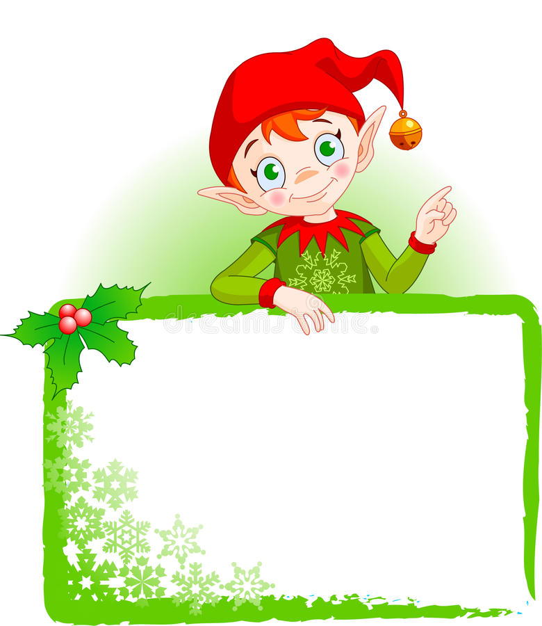 Download Christmas Elf Invite & Place Card Stock Images - Image: 10851964