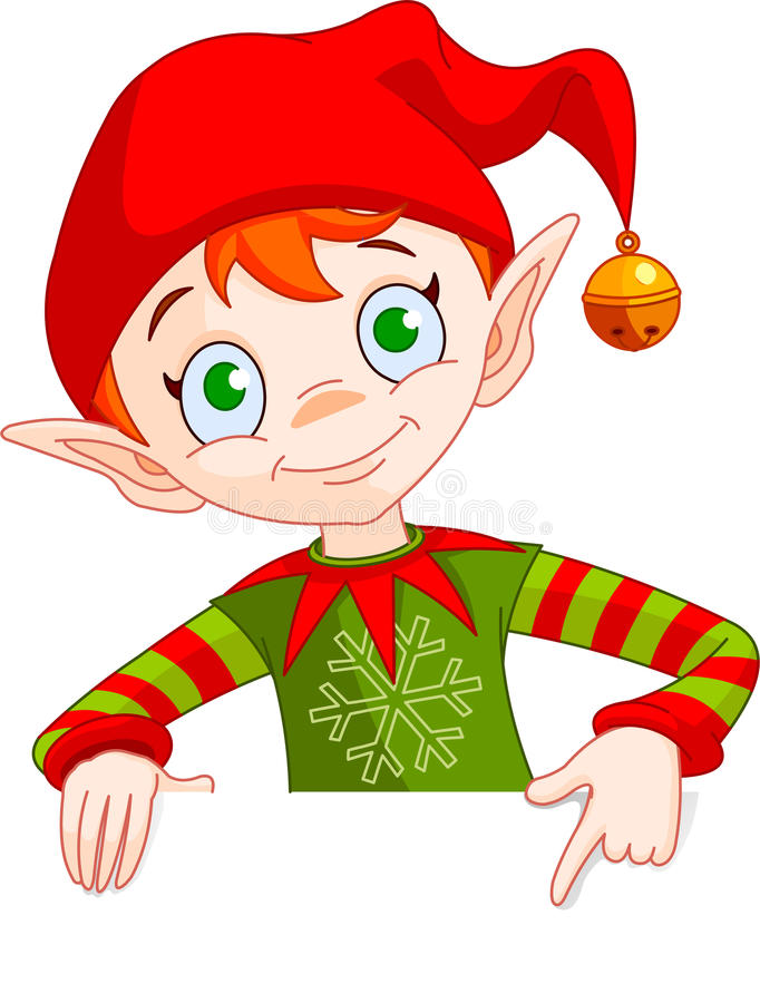 Download Christmas Elf Invite & Place Card Stock Vector - Image: 16317915