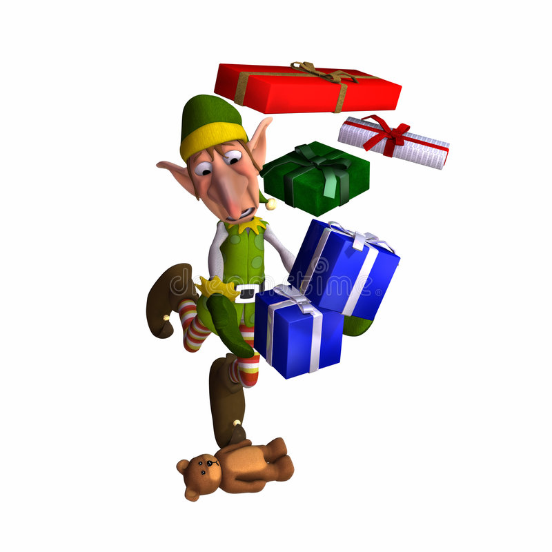 Free Christmas Elf - Tripping Royalty Free Stock Photo - 2132415