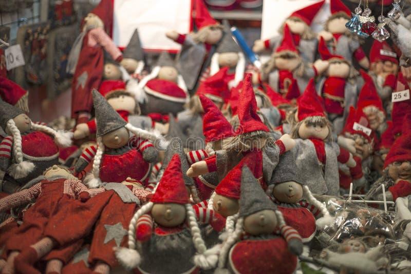 Download Christmas elfs stock image. Image of made, season, fabric - 28422843