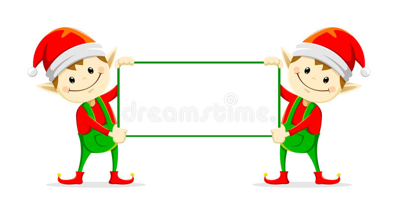 Christmas elfs royalty free illustration